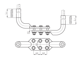 Зажимы аппаратные прессуемые типа 2А6А