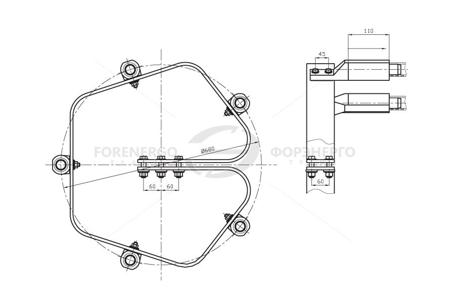 Зажимы аппаратные прессуемые типа 3А2АП, 3ААП, 4А6АП и 5А2АП