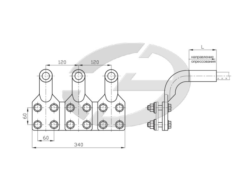 Зажимы аппаратные прессуемые типа 3А4А