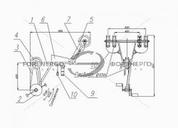 Велосипед монтажный для перемещения по трем проводам расщепленной фазы