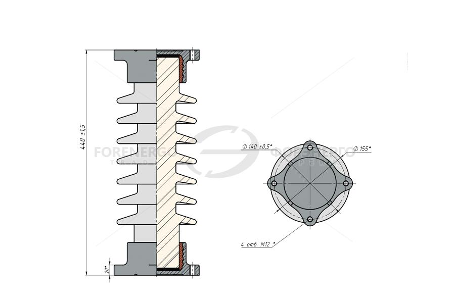 Изоляторы опорные стержневые фарфоровые типа ИОС 35