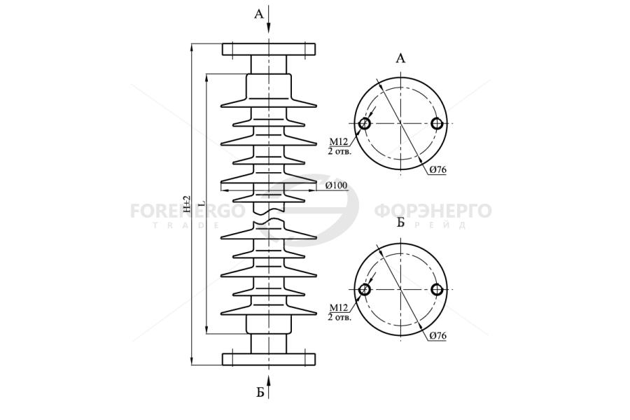 Изоляторы опорные полимерные типа ОСК 3-35 на 35 кВ