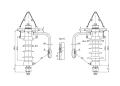 Птицезащитный линейный опорный изолятор-разрядник ОЛСК 12,5-10-Р  на напряжение 10 кВ
