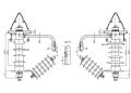 Птицезащитный линейный опорный изолятор-разрядник ОЛСК 12,5-10-РО  на напряжение 10 кВ
