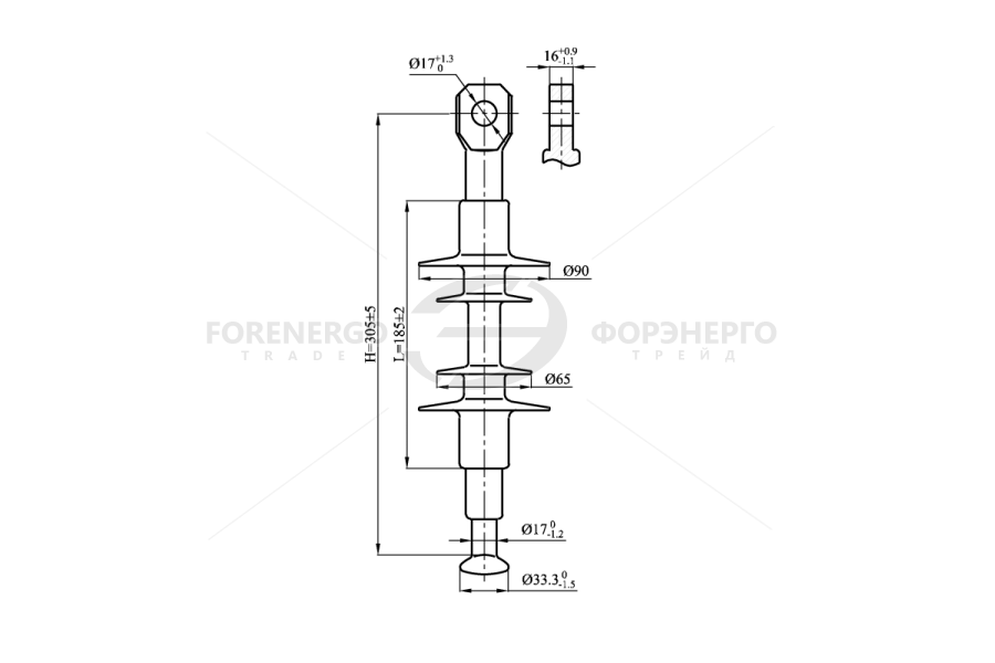 Изоляторы  линейные подвесные полимерные типа ЛК 70/10-И, ЛК120/10-И  на напряжение 10 кВ