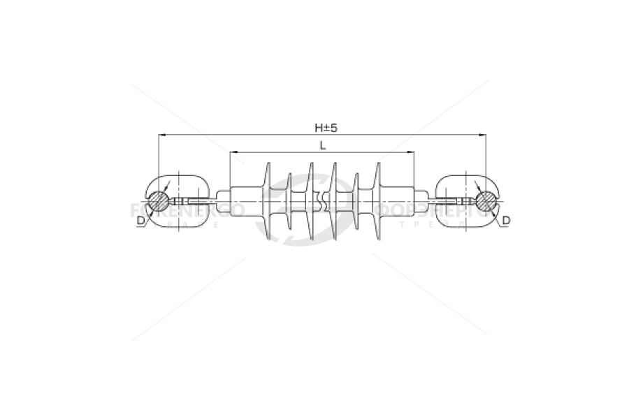 Распорки межфазные изолирующие типа РМИ на напряжение 10-35 кВ