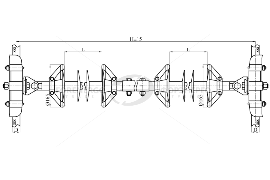 Распорки межфазные изолирующие типа РМИ на напряжение 110-220 кВ