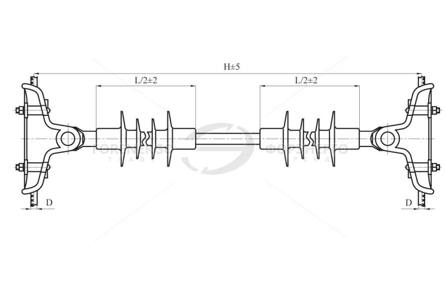 Распорки межфазные изолирующие типа РМИД на напряжение 10-35 кВ
