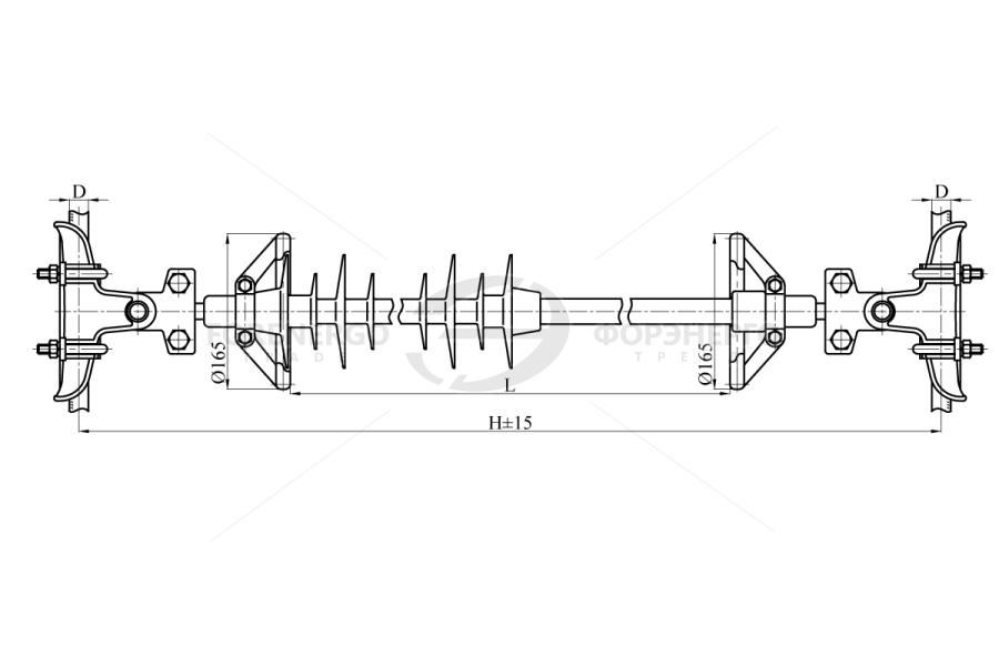 Распорки межфазные изолирующие типа РМИД на напряжение 110-220 кВ
