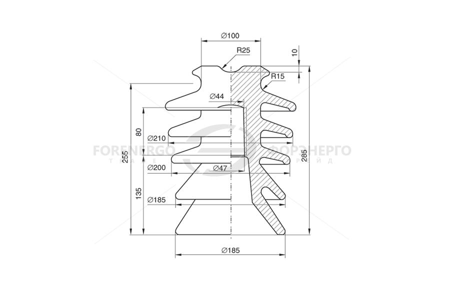Изоляторы линейные штыревые фарфоровые типа ШФ