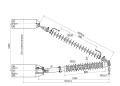 Траверсы изолирующие полимерные консольные с тягой поворотные на напряжение 35 и 110 кВ