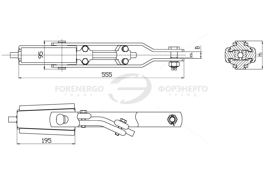 Зажимы натяжные клиновые НК-120, НК-160 и НК-210
