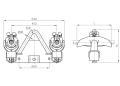 Зажим поддерживающий глухой 2ПГН-5-10
