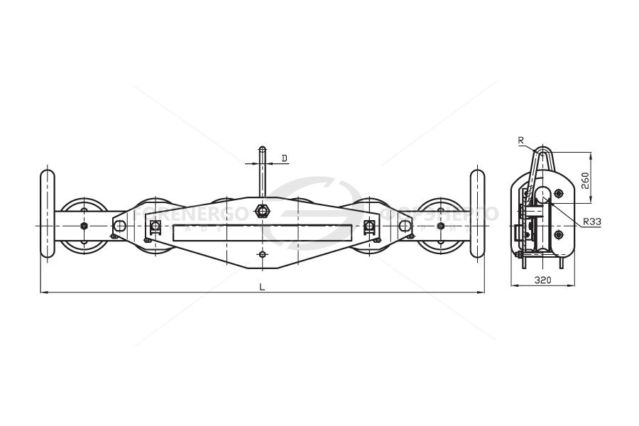 Подвесы многороликовые поддерживающие типа П4Р, П6Р