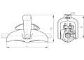 Зажим поддерживающий глухой ПГН-5-3