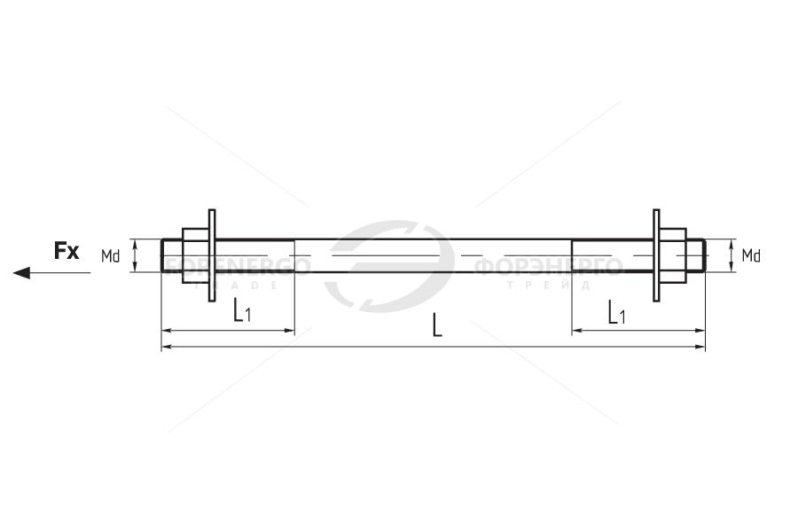 Монтажные шпильки типа MSH