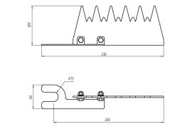 Устройство защиты птиц от поражения электрическим током на ВЛ антиприсадочное ЗП-АП6