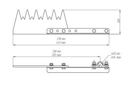 Устройство защиты птиц от поражения электрическим током на ВЛ антиприсадочное ЗП-АП6Ш1