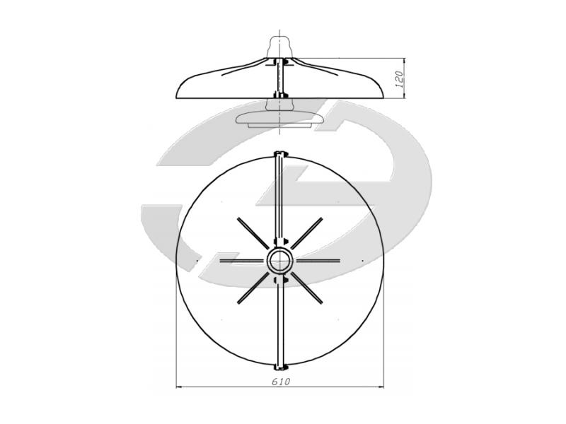 Устройство защиты птиц от поражения электрическим током на ВЛ барьерного  типа ЗП-ЭС1Б