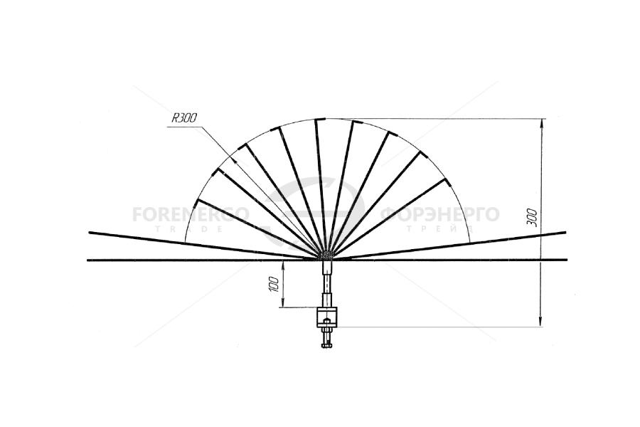Устройство защиты птиц отпоражения электрическим током на ВЛ  антиприсадочного  типа ЗПК-1