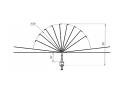 Устройство защиты птиц отпоражения электрическим током на ВЛ  антиприсадочного  типа ЗПК-2А
